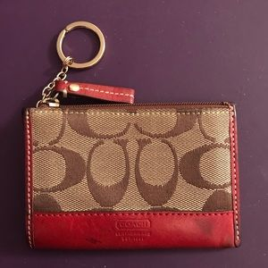 Coach Credit Card Wallet with Keychain